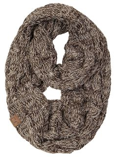 bbbb521c899 Funky Junque s C.C Beanies Matching Ribbed Winter Warm Cable Knit Infinity  Scarf