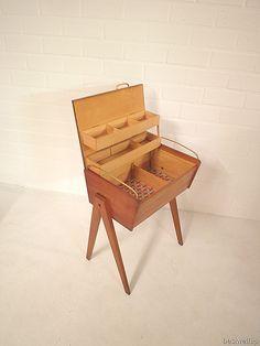 vintage naaikist naaibox naaidoos retro deens design, sewing box Danisch design vintage