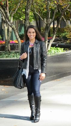 Look da Semana: Leather Jacket  #LookDoDia #Outfit #LeatherJacket