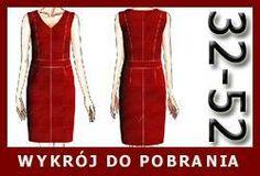 Gotowy wykrój - czerwona seksowna sukienka
