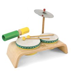Green Tones drum set | Coolest birthday gifts for 3 year olds
