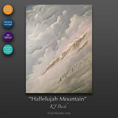 """Hallelujah Mountain"" by KJ Burk is on display and available for sale via the Ozarks Art Gallery. Christian Art, American Artists, Landscape Paintings, Original Paintings, Art Gallery, Mountain, Display, Fine Art, How To Plan"