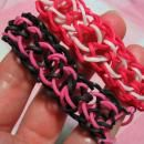 How to Make Rainbow Loom Rubber Band Bracelets - WITHOUT the Loom! Dragon scale.