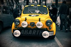 "we-are-stubborn: "" Fiat Abarth 500 "" Yellow friday"