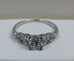 Diamond Engagement Ring with Flower Design by SoCalEndlessJewels