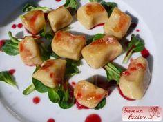 Le panais et l'orange amère (II) : en gnocchi sauce betterave/bigarade - SAVEUR PASSION