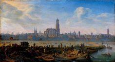 Gezicht op de stad Utrecht - Herman Saftleven ca 1664 Foto: Gemaldegalerie alte Meister Staatliche Kunstsammlungen Dresden