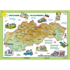 Cestujeme po Slovensku European Countries, Bratislava, Czech Republic, Montessori, Activities For Kids, Map, Education, Country, Boots