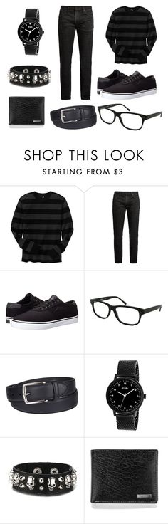 """""""All Black Everything"""" by juliannalong ❤ liked on Polyvore featuring Gap, MasterCraft Union, Lakai, Kenneth Cole, Columbia, Simplify, Steve Madden, men's fashion, menswear and Dark"""