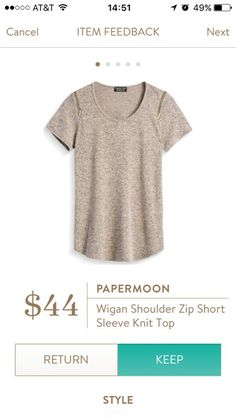 Plain and comfy but the zippers add just enough to make this shirt super cute.