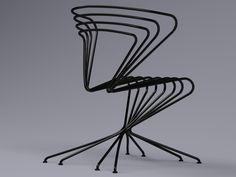 Стул стальной. Дизайн Uladzimir Dudachkin #design #outdoor #furniture #metal