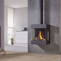 Three Sided High Effeciency Gas Fires with Glass Front Gas Fires, Stove, Home Appliances, Interior Design, Wood, Inspiration, Fireplaces, Living Rooms, Home Decor