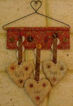 ~ Faith, Hope & Love Hearts ~ by Jenny of ELEFANTZ....