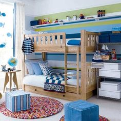 boy bedroom =) blue checked quilt
