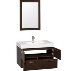Having a small size bathroom but You would like to put more stuffs in? This Wall Mounted Vanities For Small Bathrooms might be the answer for you. Thi... Wall Mounted Bathroom Cabinets, Wall Mounted Vanity, Bathroom Wall, Small Bathroom Vanities, Bathroom Images, Small Bathrooms, Bathroom Furniture Design, Vanity Set, House