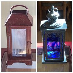 New Lanterns Lantern Lamp, Lanterns, Chalk Paint Projects, Stained Glass, Mosaic, Painting, Painting Art, Lamps, Paintings