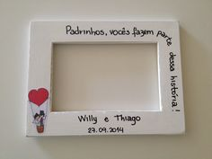 porta-retrato personalizado Emerson, Valentines Day, Wedding Day, Diy Crafts, Frame, Gifts, Inspiration, Decor, Chocolate