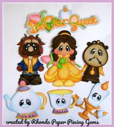 DISNEY BEAUTY & BEAST paper piecing SET for Premade Scrapbook Pages by Rhonda