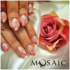 Lovely wedding and honeymoon nails Gel Designs, Opening Day, Nail Technician, Nail Artist, Wedding Nails, Pretty Flowers, Salons, Wedding Flowers, Mosaic