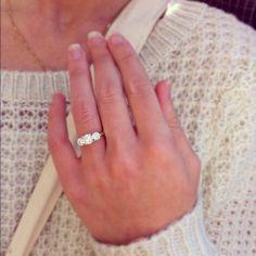 my beauty. three stone engagement ring.