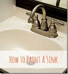 How To Paint Bathroom Sink