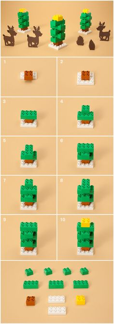 "Are you looking for an easy idea to build with your LEGO fan when it is too cold outside to play between the real Christmas trees? Check out this great step by step instruction ""How to build a DUPLO Christmas tree""! You will have a whole forest in no time and create a proper environment for Santa to land with this sleigh."