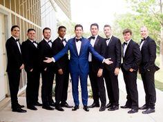 Groom Suit wedding groomsmen Gorgeous Minimalist + Modern Wedding Is Proof Less Is Wedding Poses, Wedding Groom, Wedding Suits, Wedding Attire, Trendy Wedding, Dress Wedding, Wedding Ideas, Blue Groomsmen Suits, Groom And Groomsmen Attire