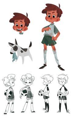 Construção de personagem de um rapaz, sendo a representação de baixo talvez mais adequada para esta unidade de trabalho.