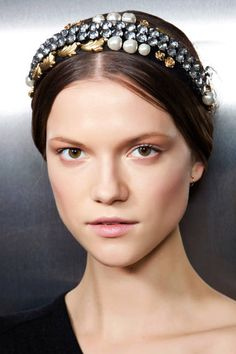 Why wear a tiara when there are headbands with so much bling? Dolce & Gabbana offers up the perfect style.
