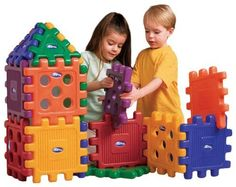 Careplay 16 Piece Grid Blocks, CarePlay Grid Blocks add unlimited fun and creativity to constructive play. Blocks are colorful and easy to use and can be used indoors or outdoors. Gives your young builder the blocks needed to follo. Blocks For Toddlers, Kids Blocks, Toddler Toys, Baby Toys, Kids Toys, Toddler Activities, Creative Skills, Creative Play, Primary And Secondary Colors