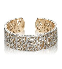 Tacori Fine Jewelry - Champagne Sunset 18K White & Rose Gold Diamond Cuff. It's beautiful!