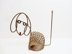 MCM Wire Dog Sculpture Letter Holder by MyPalPeppy on Etsy, $25.00
