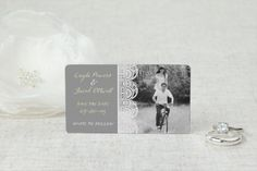 Classic Lace - Save the Date Magnet by MagnetStreet