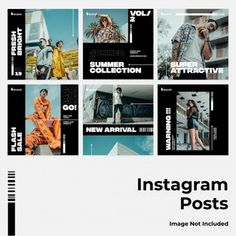 Photography instagram stories template collection Vector   Free Download Instagram Design, Layout Do Instagram, Instagram Banner, Instagram Grid, Instagram Story, Instagram Posts, Social Media Banner, Social Media Template, Social Media Design