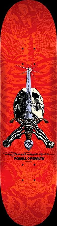 Powell Peralta Rodriguez Skull and Sword Skateboard Deck