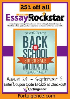 LIMITED TIME! 25% OFF Coupon Code for Essay Rockstar Courses! from sponsor @lilyiatridis #homeschooldeals