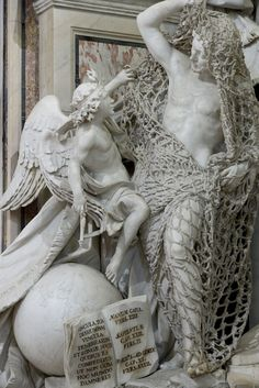 Disillusion. Francesco Queirolo. Also made of marble. Yes even the net.