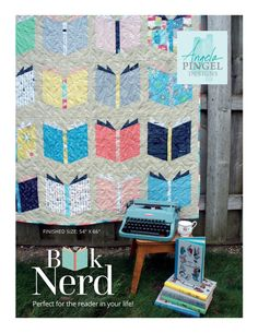 The Book Nerd Quilt is not only Fat Quarter friendly, it is also Fat Quarter Bundle friendly. So you can showcase 20 of your favorite fabrics. The pattern features basic paper piecing along with traditional rotary cut techniques. Keep the quilt at the giv Quilting Projects, Quilting Designs, Sewing Projects, Quilting Ideas, Sewing Ideas, Quilting Tutorials, Sewing Tutorials, Diy Quilting, Quilt Design