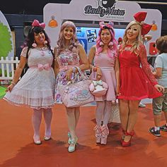 These ladies looked as sweet as cupcakes. | 24 Photos Of The Wildest And Most Wonderful Fashion From The Hello Kitty Festival