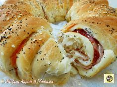 Corona di pan brioche salata farcita Blog Profumi Sapori & Fantasia