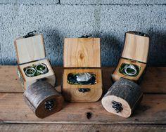 Image of Natural Wood Log Ring Box