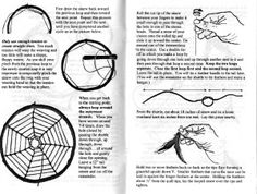 Illustrated instructional booklet sample page of real weaving dream-catchers