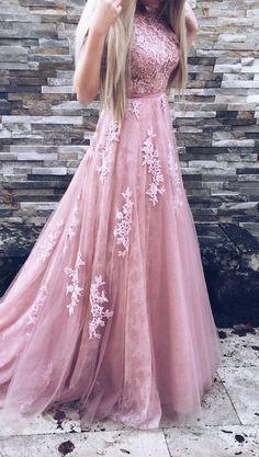 A-line Prom Dress,Tulle Prom Dress,Pink Prom Dresses,Formal Gown,Pretty Prom Dress,Cheap Prom Dress,2017 Prom Dresses,PD00436