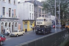 The origins of bus services in Dublin go back to the first horse tram, the Terenure route, in A network of tram routes developed quickly, and the network was electrified between 1898 and Dublin Map, Dublin City, Dublin Ireland, Ireland Travel, Old Pictures, Old Photos, St Matthews Church, Dublin Street, Images Of Ireland