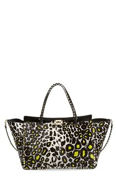 Valentino 'Large Rockstud' Calf Hair Tote available at #Nordstrom