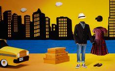 Cut paper photo illustrations for the Aishti Minis ad campaign.