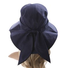 Ls Lady Womens Summer Flap Cover Cap Cotton Anti-UV UPF 50+ Sun Shade Hat With Bow. Adjustable Hat (One Size,0 Blue) Summer Hats For Women, Sun Shade, Fashion Brands, Winter Hats, Shades, Bows, Lady, Cover, Cotton