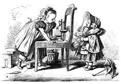 Bertha and Mary Shopping ~ Free Vintage Clip Art