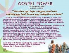 Gospel Power 1st Sunday of Advent