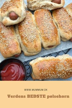 Sausage rolls [in Danish] Great Recipes, Favorite Recipes, Norwegian Food, Danish Food, Recipes From Heaven, Food Inspiration, Kids Meals, Love Food, Food Porn